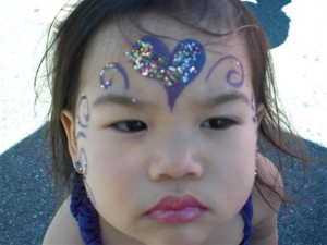 Purple hearts darling Princess - Facepainting