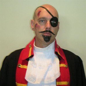 The Captain! Buccaneer face makeup by Lisa
