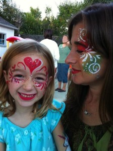 Hearts & Flowers Donna Ava Face Painting