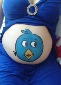 Pregnancy with Angry Bird
